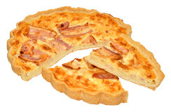 Bacon And Cheese Quiche Royalty Free Stock Photos