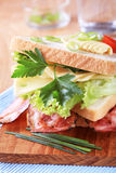 Bacon and cheese sandwich Royalty Free Stock Images