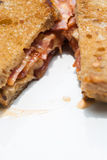 Bacon and cheese sandwich Royalty Free Stock Image