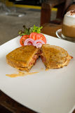 Bacon and cheese sandwich Royalty Free Stock Photography