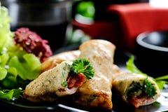 Springroll. Bacon cheese springroll  for dinner Royalty Free Stock Image