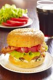 Bacon cheeseburger Stock Images