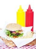 Bacon Cheeseburger Stock Photography
