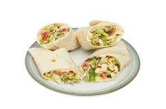 Bacon and chicken wraps royalty free stock image