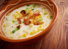 Bacon Chili Corn Chowder royalty-vrije stock fotografie