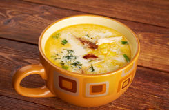 Bacon Chili Corn Chowder stock foto's
