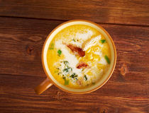Bacon Chili Corn Chowder royalty-vrije stock foto