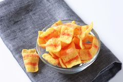 Bacon chips Royalty Free Stock Photos