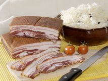 Bacon and Choucroute stock photography