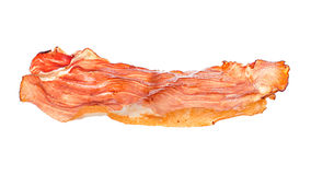 Bacon close-up isolated on white stock photography