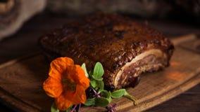 Bacon con le verdure Fotografia Stock