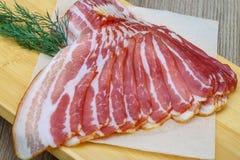 Bacon cortado fotografia de stock