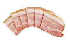 Bacon cortado cru imagem de stock royalty free