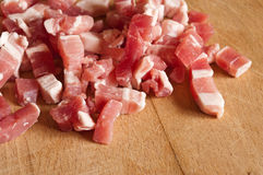 Bacon cubes Stock Image