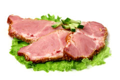 Bacon and  cucumber Stock Image