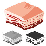 Bacon cut, Fresh Meat products Royalty Free Stock Image