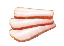 Bacon cut slice Stock Photos