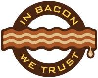 In Bacon dat wij hebben vertrouwd op stock illustratie