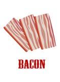 Bacon del fumetto isolato su bianco Immagini Stock Libere da Diritti