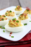 Bacon Deviled Eggs Stock Image