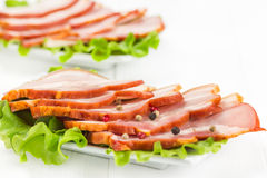 Baconwith dill and pepper Royalty Free Stock Images