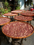 Bacon drying in the sun, Thailand. Stock Photography