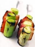 Bacon e alho-porros Fotos de Stock