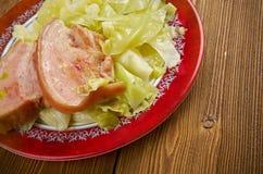Bacon e cavolo fotografie stock libere da diritti