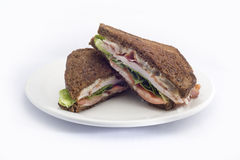 Bacon e Hamburger e salada do ovo Fotografia de Stock Royalty Free