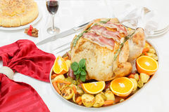 Bacon e Herb Roasted Turkey Fotografia de Stock Royalty Free