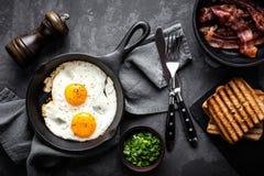 Bacon e ovos Fotos de Stock Royalty Free