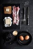 Bacon e ovos do café da manhã imagem de stock royalty free