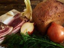 Bacon e pão Imagem de Stock