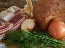 Bacon e pão Foto de Stock