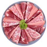Bacon e salame immagini stock