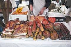Bacon e salsiccia fotografie stock libere da diritti