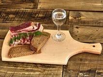 Bacon e vidro da vodca Imagens de Stock Royalty Free