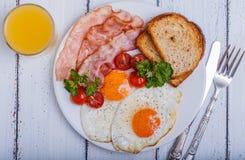 Bacon ed uova Immagini Stock Libere da Diritti