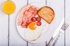 Bacon ed uova Fotografia Stock Libera da Diritti