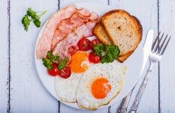 Bacon ed uova Fotografia Stock
