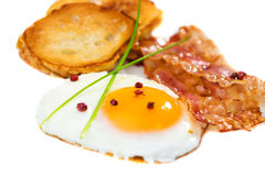 Bacon ed uovo fotografia stock libera da diritti
