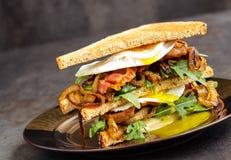 Bacon ed uovo Sanwich immagini stock