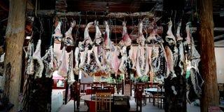 Bacon, een lokale specialiteit van het chongqing, China royalty-vrije stock afbeelding