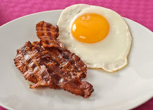 Bacon and egg Royalty Free Stock Image