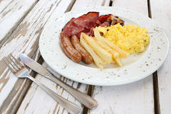 Bacon and Egg Breakfast Royalty Free Stock Image