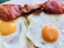 Bacon and egg breakfast Stock Photo