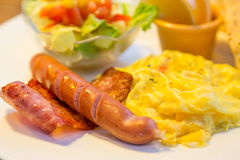Bacon and egg breakfast Stock Photography