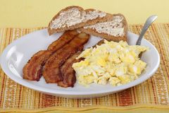 Bacon and Egg Brealfast Stock Photo