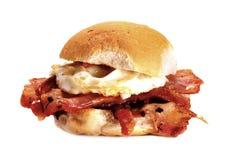 Bacon and egg bun. Royalty Free Stock Photos