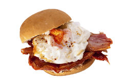 Bacon and egg bun. Royalty Free Stock Photo